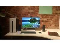 "PC Computer // HP Pavillion 550-103na w/ HP Pavillion 23.8"" monitor White desktop package"
