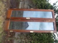 Pair of Mahogany Patio Doors