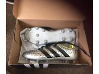 Silver Adidas Football Boots size 3
