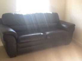 Leather sofa bed. SOLD........SOLD........SOLD........SOLD