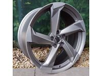 """19"""" New R8 Style Alloy Wheels for VW Audi Seat Etc"""