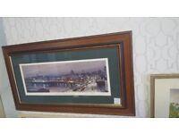 King George V Bridge & Broomielaw Signed Framed Print