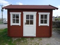NEW Hideaway Log Cabin 3.3m x 2.3m in 30mm from LOGSPAN