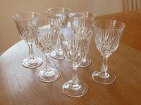 CRYSTAL WINE GLASSES £30