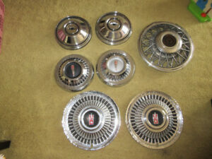60's Acadian and Chevy hubcaps