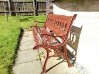 Cast iron bench ends plus bench