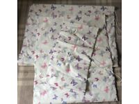 Three Laura Ashley Butterfly Print Roller Blinds Blind
