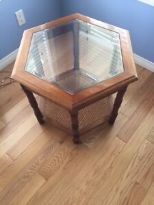 Glass top multi use table