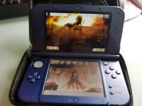 Blue new nintendo 3ds XL with games