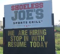 Looking for Line Cooks / Prep Cooks / Dishwashers