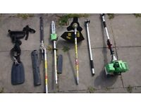 3 in 1 petrol strimmer, hedge trimmer and chainsaw good condition working