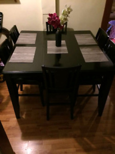 Ashley pub set dining table and six chairs, great condition!