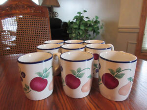 Princess House Orchard Medley Mugs, Pots, Watering Can, Canister