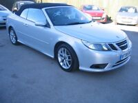 2008 SAAB 93 CONVERTIBLE 1.9 TID,IN SILVER, LEATHER SEATS, ALLOYS,