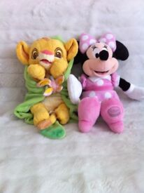 Disney baby Simba and baby Minnie Mouse