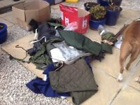 Army and Navy military clothing some new some worn
