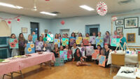 Vino and Van Gogh paint parties