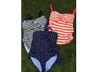 X3 like new mother care maternity tankini top and bottoms size 12