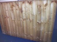 treated garden fencing and 3 gates