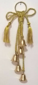 Golden Shatterproof Hanging Bells Christmas Decoration