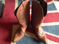Men's leather cowboy boots size 10 just £15