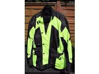 Australian Bikers Gear UK Motorcycle Infinity Hi Viz Waterproof Jacket Armour & Vented