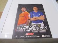 BLACKPOOL V CARDIFF CITY 2010 PLAY-OFF FINAL PROGRAMME