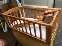 Crib & swing, used, wooden