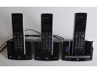 BRITISH TELECOM BT CORDLESS STRATUS 1500 TRIO PHONES X3 PLUS ANSWER PHONE MACHINE £45 ONO