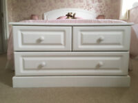Low White Chest of Drawers