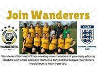 11-a-side womens/ladies football/soccer recruitment