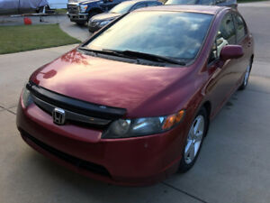 2006 Red Honda EX Sedan