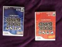 Rock Band Song Pack 1, Rock Band Song Pack 2 for Nintendo Wii (used, no damage)