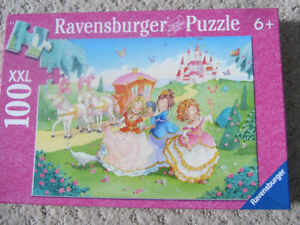 Ravensburger 100 Piece Glitter Puzzle - Princess Carriage Ride