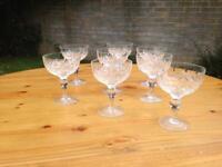 8 high quality crystal cut glasses