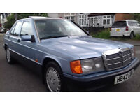 MERCEDES 190E AUTOMATIC 1991 MODEL 2.0 PETROL. BLUE COLOUR,EXCELLENT CONDITION .BMW .
