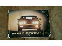 Ford Granada owners handbook