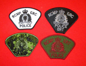 Lot of 4 Reproduction RCMP Patches Not Force Issue