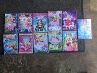 11 Barbie DVD's