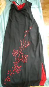 Robe de bal rouge & noire