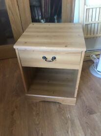 Single Pine Effect Bedside Table for Sale