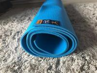Warrior II Blue Yoga Mat 4mm