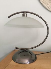Touch Lamp in silver & glass