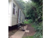 Static caravan in the Isle of Wight