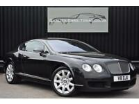 Bentley Continental GT 6.0 W12 * Diamond Black + Portland + Massage Seats *