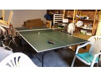 Table Tennis Table, Butterfly Rollaway, Very Good Condition, with Bats and Balls