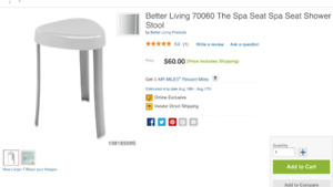 Spa seat shower stool