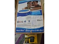 new- swimmming pool 10ft x 30inch and pump