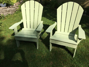 Solid pine lawn chairs