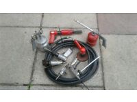 selection of air tools little used all in good working order